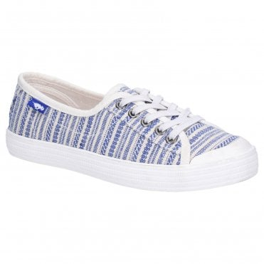New Womens Rocket Dog Natural Jazzin Cascade Cotton Trainers Canvas Lace Up
